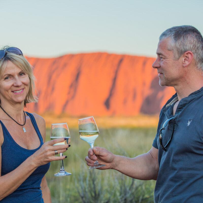 Cheers at Uluru