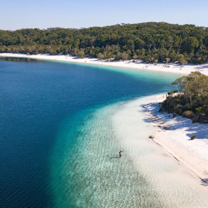 Drone Fraser Island Lake
