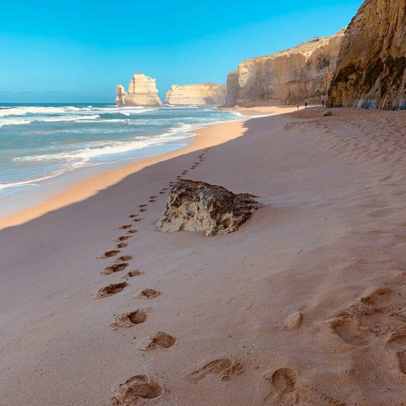 Great Ocean Road footprints