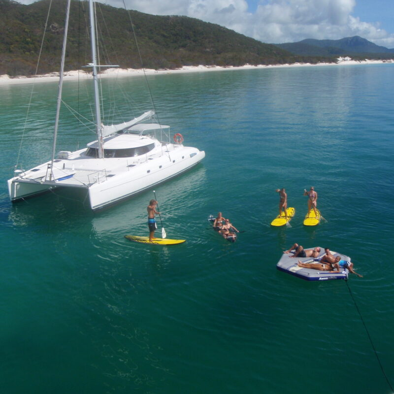 Entice is one of the Twin catamarans