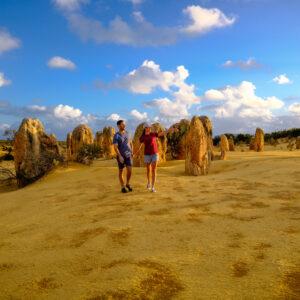 Couple at The Pinnacles, Nambung National Park