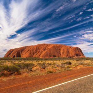 Uluru from the road